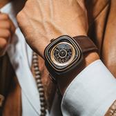 SEVENFRIDAY T2 T系列 自動上鍊機械錶-咖啡/45mm(T2/02)
