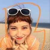 韓版復古原宿風海灘凹造型太陽鏡圓形墨鏡女 nm1141 【VIKI菈菈】