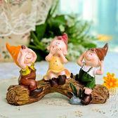 現貨清出擺件裝飾品家居飾品歐式樹脂田園擺設三不樹樁娃娃 8-13