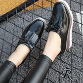 歐美時尚蝴蝶結流蘇裝飾厚底休閒包鞋/35-39碼/3色 (RX0106-66-3) iRurus 路絲時尚