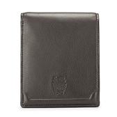 DAKS 經典家徽壓紋軟皮革多卡雙層短夾(深咖啡色)230192-02