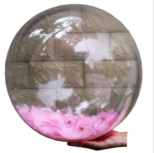 24吋透明羽毛 亮片 沙灘球 泳池浴缸玩水學游泳 海灘橘魔法 Baby magic 現貨 沙灘球