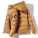 時尚簡約棉服男士棉衣 夾克外套羽絨服 連帽外套加厚男生外套 潮流男士外套 羽絨外套韓版外套