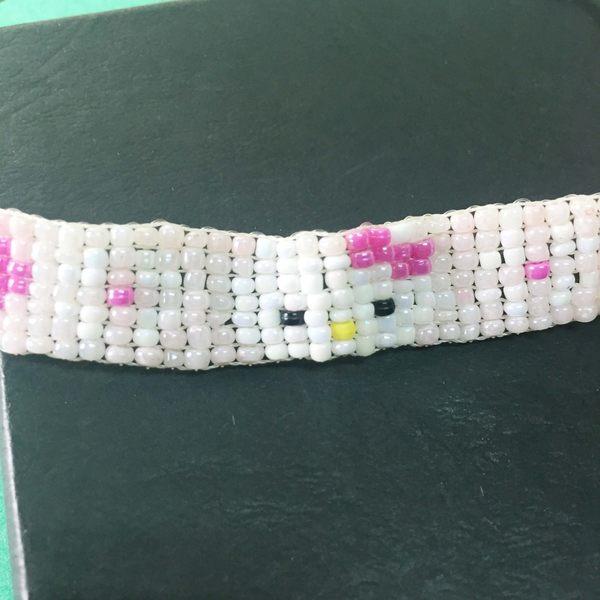 【震撼精品百貨】Hello Kitty 凱蒂貓~手環/手鍊-珠片手鍊-粉色