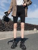 黑色牛仔五分褲女夏2020新款春裝高腰短褲緊身網紅騎行褲顯瘦中褲
