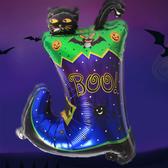 【BlueCat】萬聖節BOO!黑貓靴子吸血蝙蝠無言黑猫幽靈提燈蜘蛛鋁膜氣球 佈置