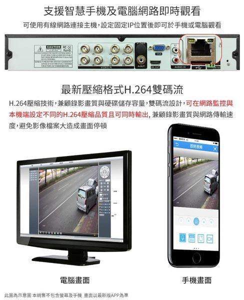 【CHICHIAU】8路4聲 五合一 AHD TVI CVI 1080P雙硬碟款混搭型數位監控錄影主機-DVR