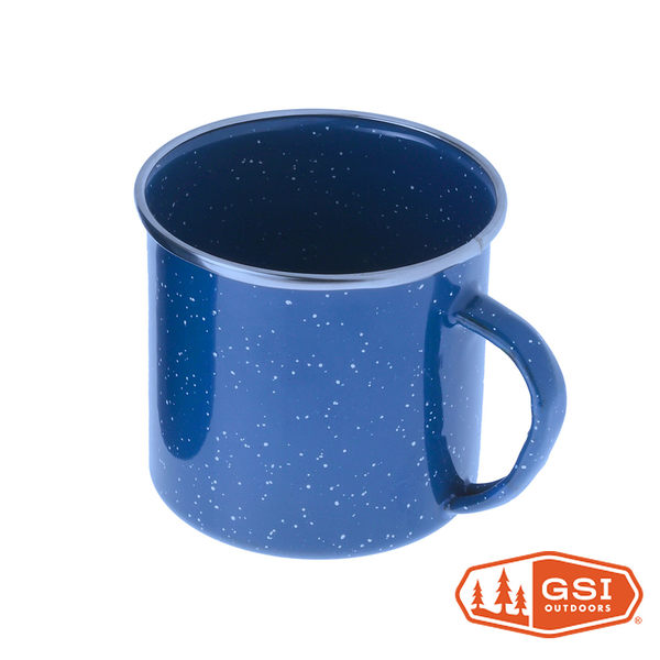 GSI Cup Stainless Rim 12 fl. oz.- Blue 不鏽鋼包邊琺瑯杯12oz『藍色』33208 咖啡杯 露營杯 馬克杯
