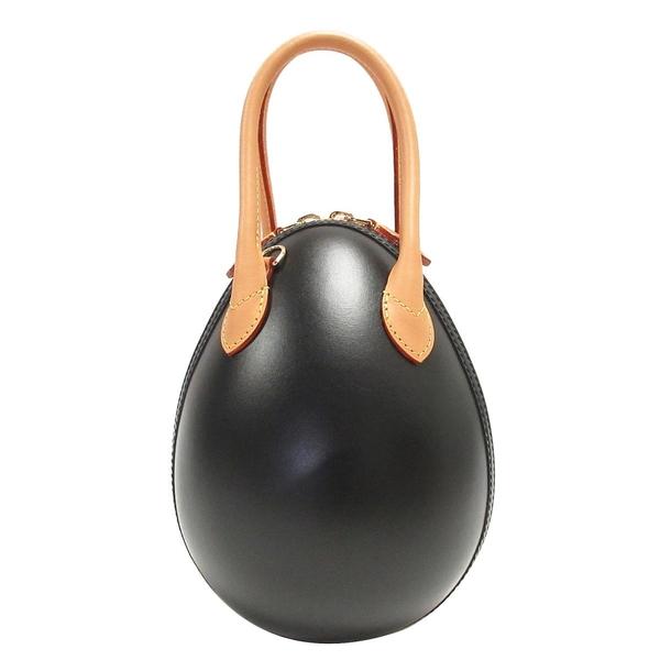 LOUIS VUITTON LV 路易威登 原花拼接黑色小牛皮手提蛋型包 恐龍蛋 Egg Bag BRAND OFF