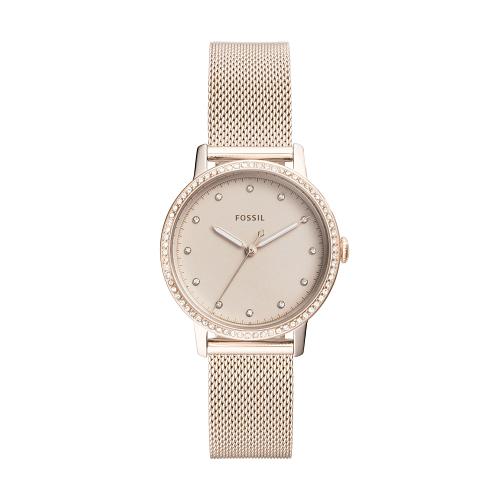 FOSSIL優雅晶鑽米蘭帶腕錶ES4364