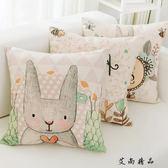 可愛卡通抱枕飄窗沙發靠墊靠枕