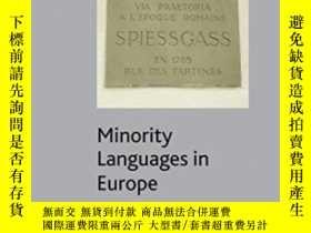 二手書博民逛書店Minority罕見Languages In Europe: Frameworks Status Prospect