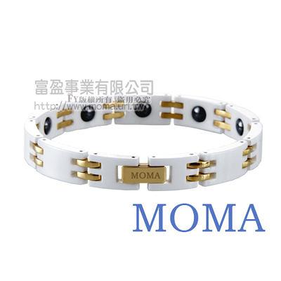 【MOMA】陶瓷鍺磁手鍊寬版-M67MG-最佳情人禮