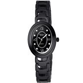 Vaness 新古典優雅陶瓷時尚腕錶(黑)
