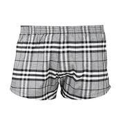 BURBERRY 經典格紋棉質家居短褲(灰色)085195-1
