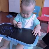 小黑板 兒童畫板塗鴉寫字白板便攜雙面寶寶小黑板可擦塗鴉【免運直出】