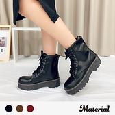 中筒靴 個性綁帶厚底中筒靴 MA女鞋 T9214