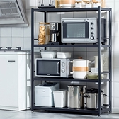黑色不鏽鋼四層置物架100cm(無後方圍欄) 烤箱架 微波爐架 電器架【Y10063】快樂生活網