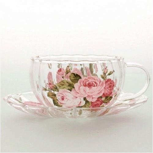 日本【紀念玫瑰 Anniversary Rose】耐熱杯盤組