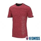 K-SWISS Mesh Print Logo Tee排汗T恤-男-紅