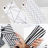 韓國 黑白紋路 硬殼 手機殼│iPhone 6 6S 7 8 Plus X XS MAX XR 11 Pro LG G7 G8 V40 V50│z8079