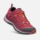 [KEEN] TERRADORA WP (女) 健行鞋 酒紅/紅 (173-1017695)
