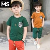 童裝男童夏裝套裝 新款兒童中大童運動帥氣兩件套 LR1819【VIKI菈菈】