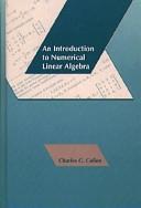 二手書博民逛書店 《An Introduction to Numerical Linear Algebra》 R2Y ISBN:0534936903│Pws Publishing Company