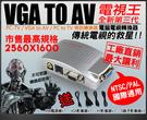 【台灣安防家】VGA 轉 AV 電腦 轉 電視 S端子 轉換器 適 投影機 錄影機 DVR 720P 1080P