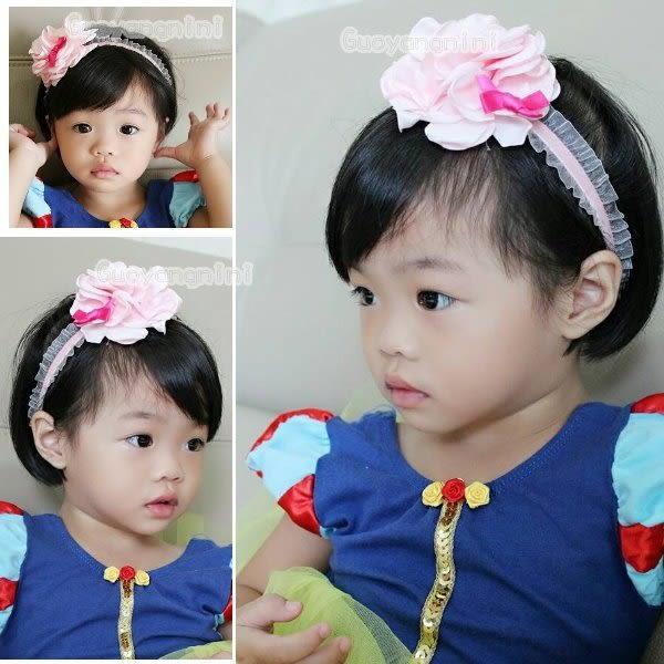 手工髮帶 天鵝絨髮帶大花蝴蝶結款兒童 寶寶 嬰兒 彈性髮帶 拍照 彌月 寫真  果漾妮妮【P3949】