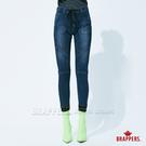 BRAPPERS 女款 新美腳 ROYAL系列-彈性運動束口八分褲-藍