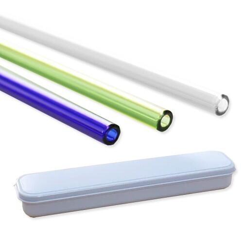 手搖杯專用加長彩晶玻璃吸管(6件組)『STYLISH MONITOR』顏色隨機出貨 D554360