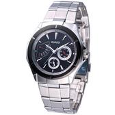 ALBA WIRED星期逆跳紳士腕錶AN7019X【黑色】5Y66-X004D