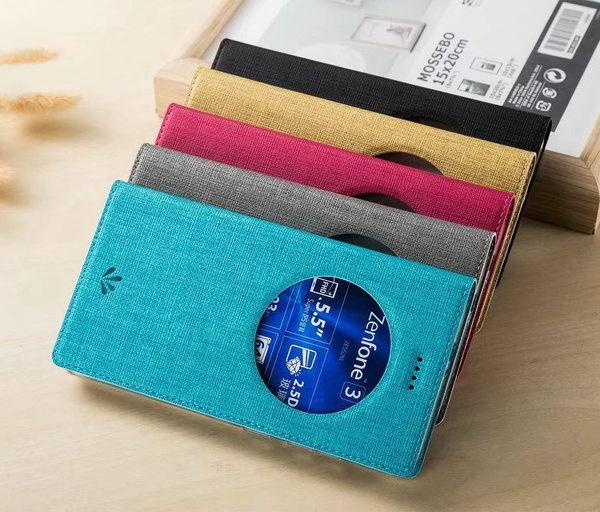 ViLi DMX ASUS ZenFone 3 (ZE552KL) 簡約時尚側翻手機保護皮套 隱藏磁扣支架 視窗休眠手機套 內TPU軟殼