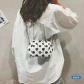 貝殼包INS波點小包包女2018新款潮正韓不規則貝殼包百搭鍊條單肩斜背包 (全館88折)