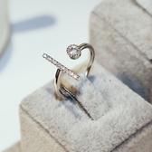 戒指 925純銀 鑲鑽-高貴大方生日母親節禮物女飾品73by52【時尚巴黎】