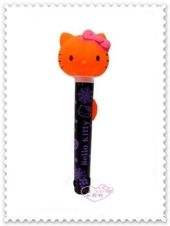 ♥小花花日本精品♥ Hello Kitty 南瓜造型燈 南瓜手電筒 大頭造型 橘色 萬聖節限定 56737004