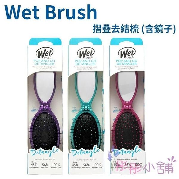 Wet Brush 摺疊去結梳 (含鏡子) 乾濕兩用梳 護髮梳 旅行隨身攜帶方便 【彤彤小舖】