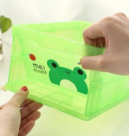 收納箱 收納盒 掀蓋整理箱 動物收納盒 可折疊收納箱 儲物盒 小號【D9001】