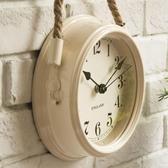 北歐現代簡約鐘表超靜音臥室掛鐘客廳鐵藝金屬鐘表個性創意石英鐘 美芭QM