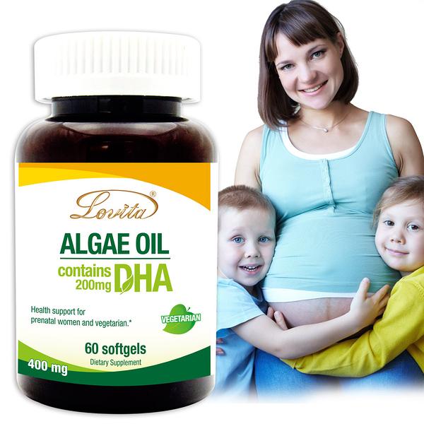 Lovita愛維他 植物性DHA藻油200mg素食膠囊 (孕婦 孕哺兒)