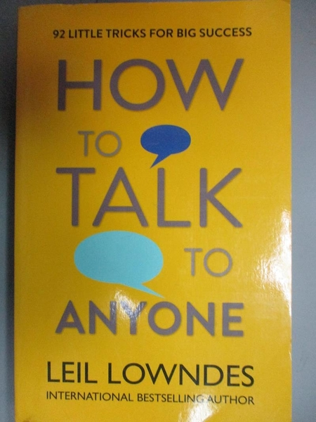 【書寶二手書T9/財經企管_JNZ】How to Talk to Anyone-92 Little Tricks For