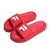 FILA (偏小建議大半號) 荔枝皮 紅 大LOGO 拖鞋 (布魯克林) 4S316S221