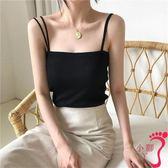 背心 夏季性感韓版內搭白色百搭針織小吊帶背心外穿黑色打底衫女潮
