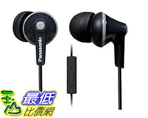 [美國直購] 耳機 Panasonic ErgoFit Best in Class In-Ear Earbuds Headphones with Mic/Controller RP-TCM125-K (Black)