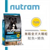 nutram紐頓[無穀全犬大顆粒,T25鮭魚+鱒魚,11.4kg,加拿大製](免運)