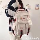 學生後背包 可愛ins風書包女大容量韓版高中學生初中生背包輕便小學生後背包 艾家