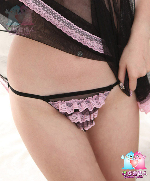 【愛愛雲端】性感內睡衣 性感內褲 開檔褲 丁字褲 綁帶 蕾絲 2575-1