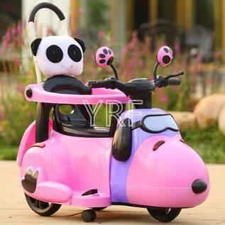 電動車 新款電動摩托車三輪車6個月6歲輕便手推車小孩充電可坐玩具車TW