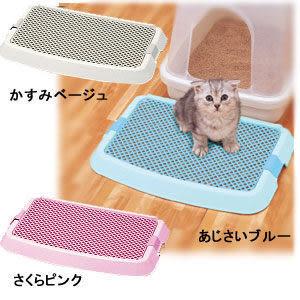 『寵喵樂旗艦店』【日本IRIS】新款貓砂盆落砂踏墊 NO-550藍/粉/駝 3色